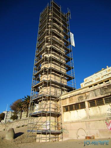 Figueira da Foz: Torre do relógio de praia vai ter obras - Andaimes na praia