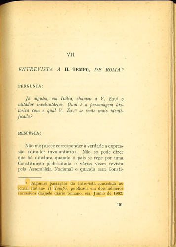 Oliveira Salazar, «Entrevistas, 1960-66», Coimbra Editora, 1967, p.101