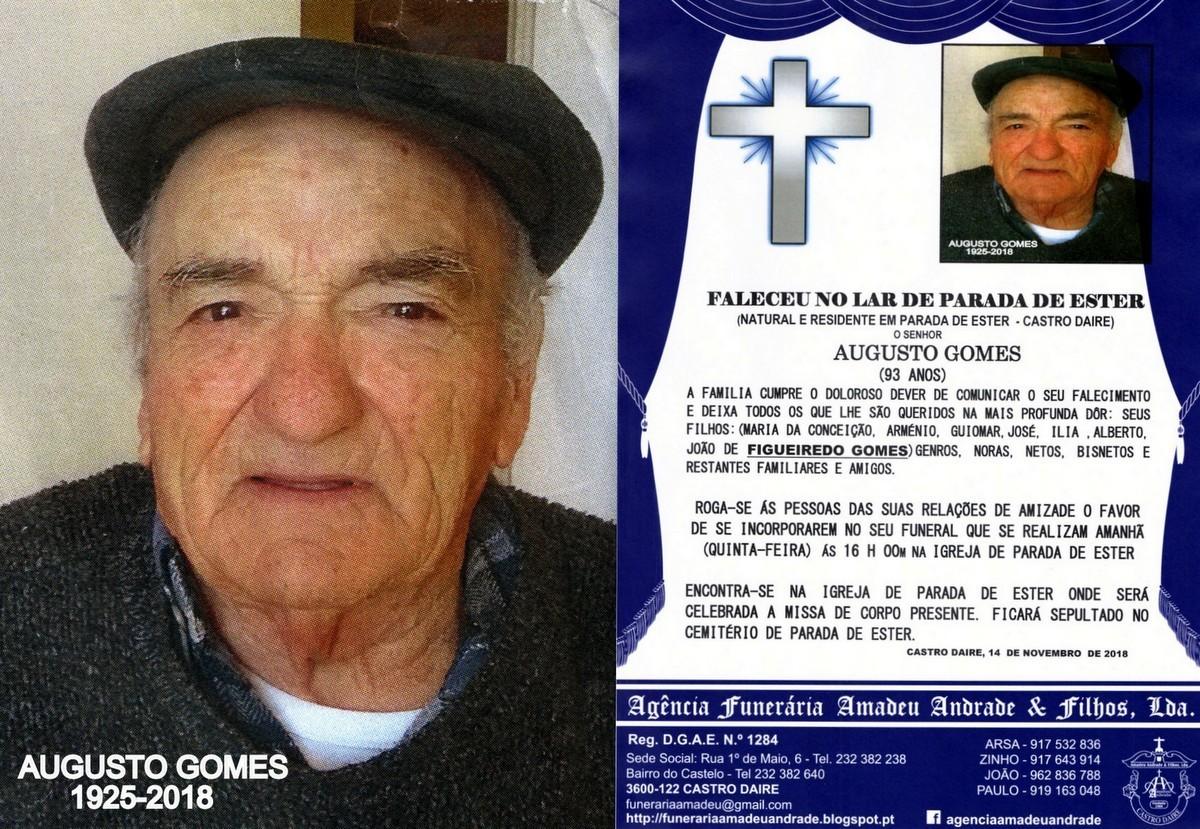 FOTO RIP-DE AUGUSTO GOMES -93 ANOS (PARADA DE ESTE