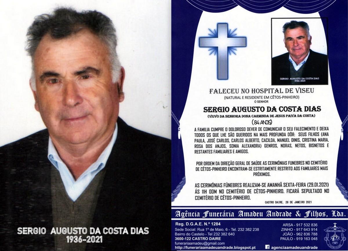 FOTO RIP  DE SERGIO AUGUSTO DA COSTA DIAS-84 ANOS