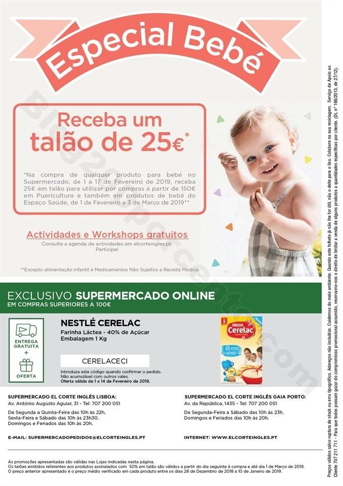 Antevisão Folheto EL CORTE INGLÉS Bebé + Promo