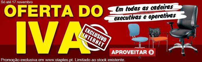 Oferta do IVA | STAPLES | até 17 novembro cadeiras