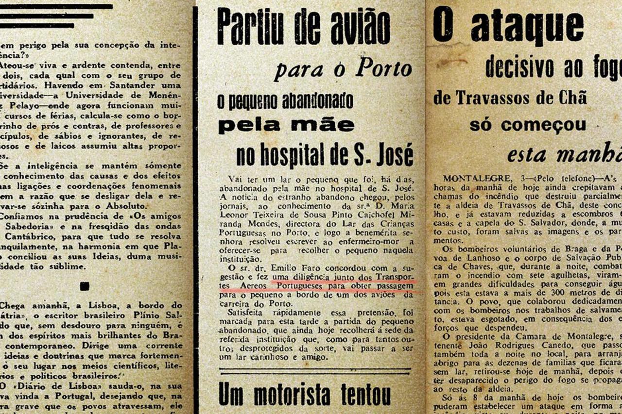 Partiu de avião… Diário de Lisbôa, 3/IX/48