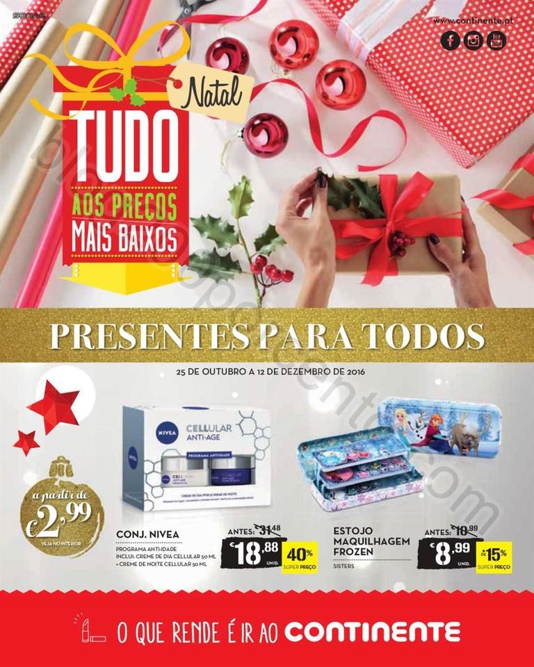 Antevisão Folheto CONTINENTE Presentes de Natal d
