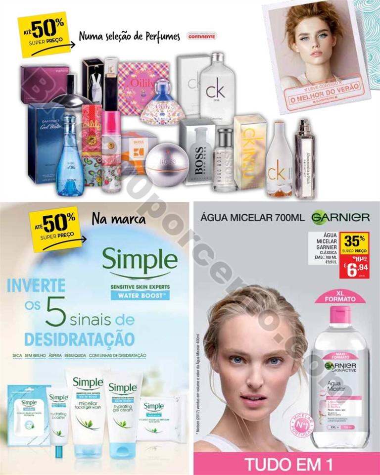Antevisão Folheto CONTINENTE Beleza Verão Promo