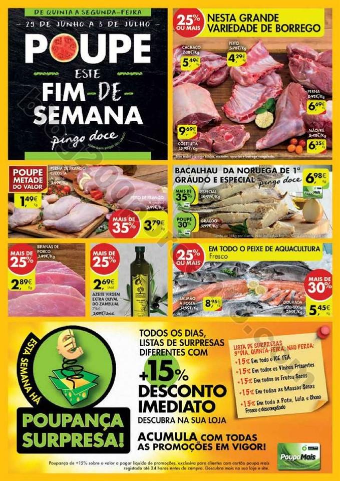 Antevisão Folheto PINGO DOCE Fim de semana de 29