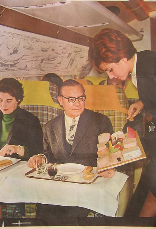 Serviço a bordo do Caravela, T.A.P., 1962