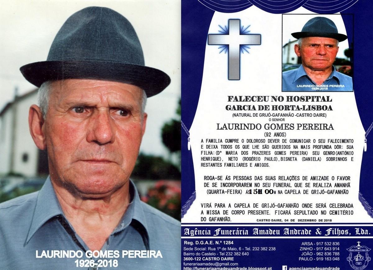 RIP-FOTO DE LAURINDO GOMES PEREIRA -92 ANOS (GRIJ