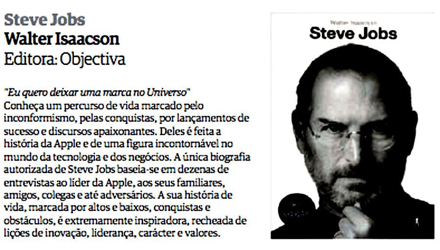 e2f7664f1cb97 A biografia de Steve Jobs, de Walter Isaacson - BLOGUE DA OBJECTIVA