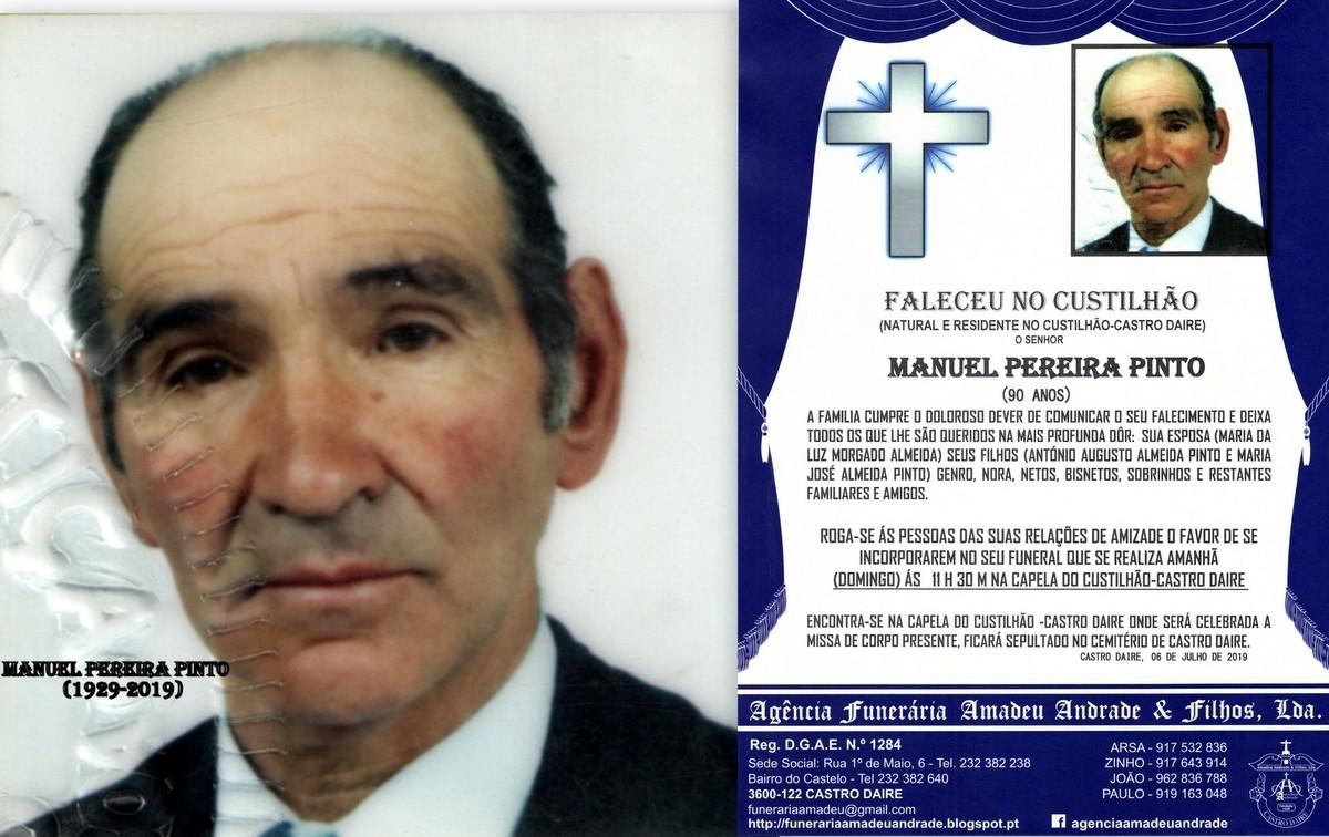 FOTO RIP DE MANUEL PEREIRA PINTO -90 ANOS (CUSTILH