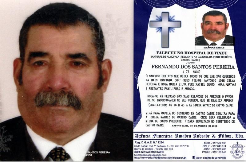 RIP1-FOTO DE FERNANDO DOS SANTOS PEREIRA -74 ANOS