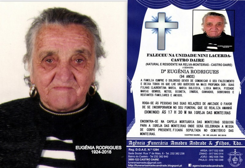 FOTO RIP- DE EUGÉNIA RODRIGUES-94 ANOS (RELVA-MON