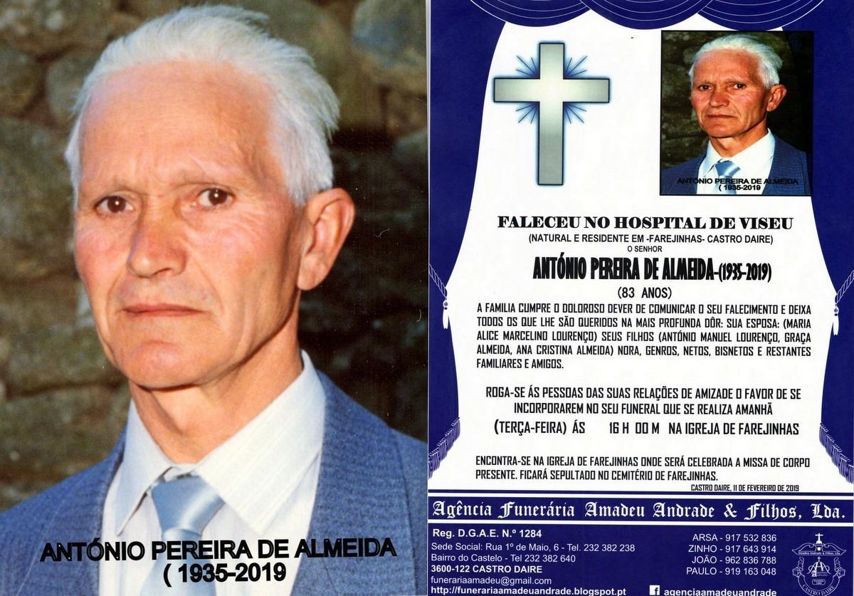 FOTO RIP DE ANTÓNIO PEREIRA DE ALMEIDA -83 ANOS (