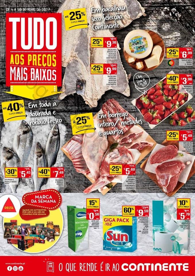Antevisão Folheto CONTINENTE Promoções de 4 a 1