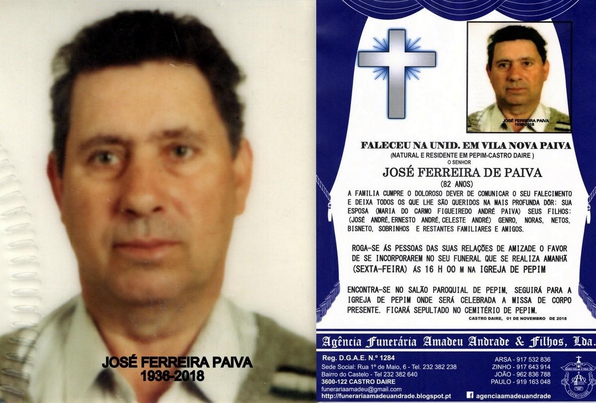FOTO RIP  DE JOSÉ FERREIRA PAIVA-82 ANOS (PEPIM).