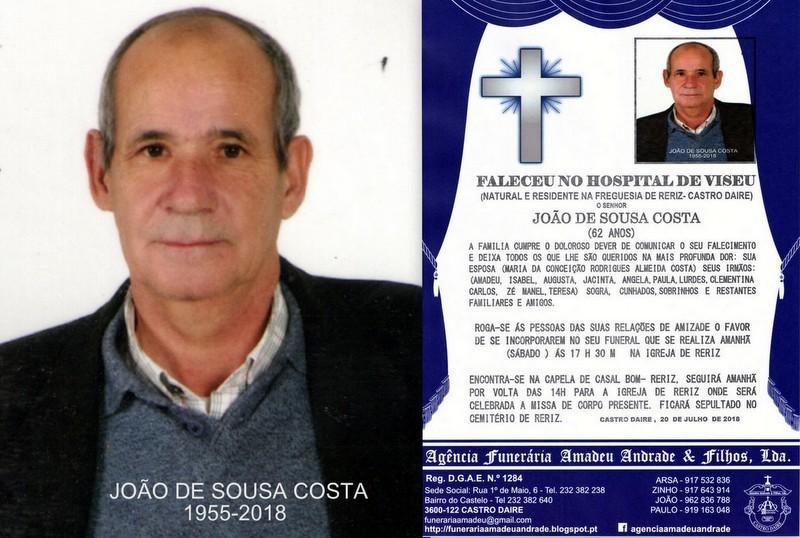 FOTO  RIP DE JOÃO DE SOUSA COSTA -62 ANOS (MIDÕE