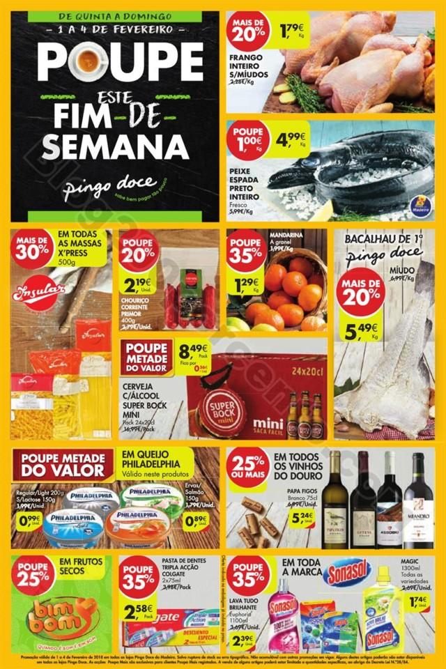 Folheto PINGO DOCE Madeira Fim de semana promoçõ