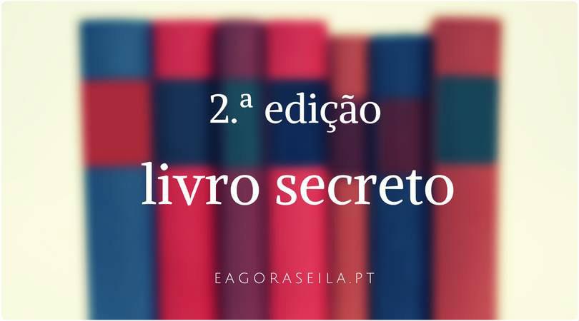 Livro secreto - Iniciativa do blog E agora? Sei lá!