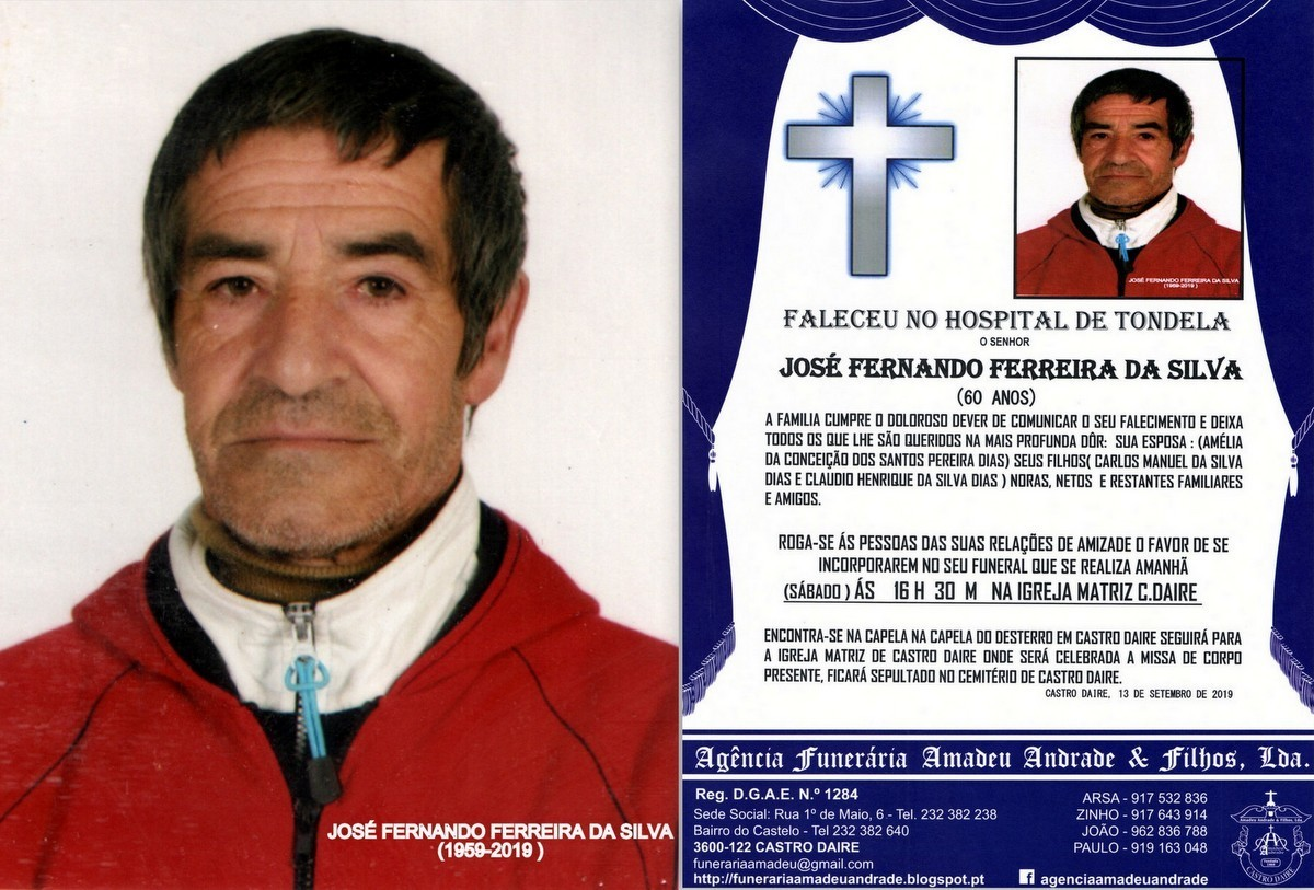 FOTO RIP DE JOSÉ FERNANDO FERREIRA DA SILVA-60 AN