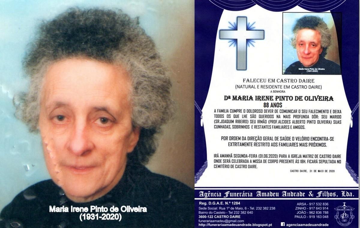FOTO RIP  DE MARIA IRENE PINTO DE OLIVEIRA-88 ANOS