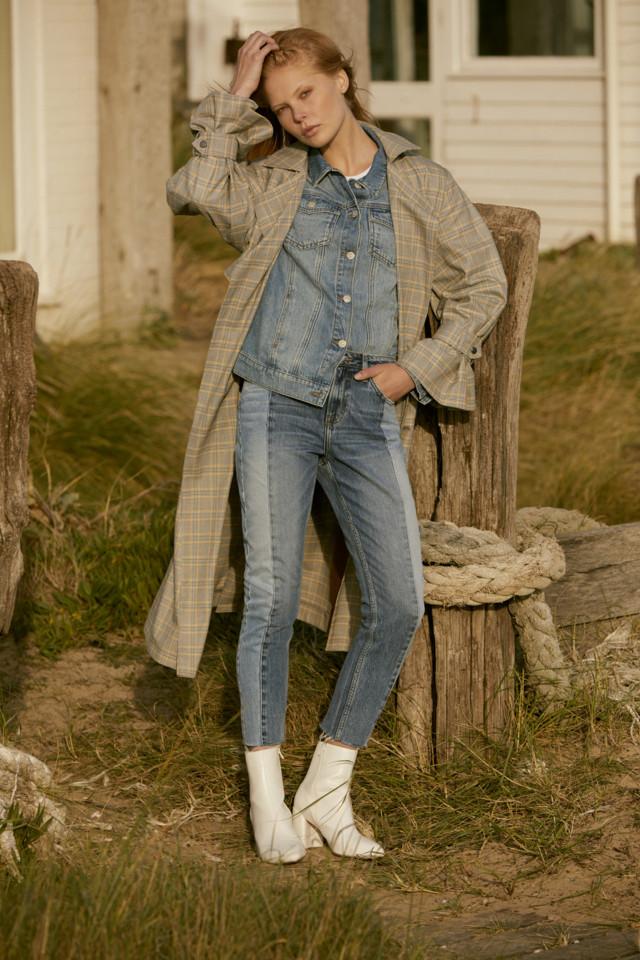 Coat E40, Denim Jacket E19, T-shirt E3.50, Jeans E