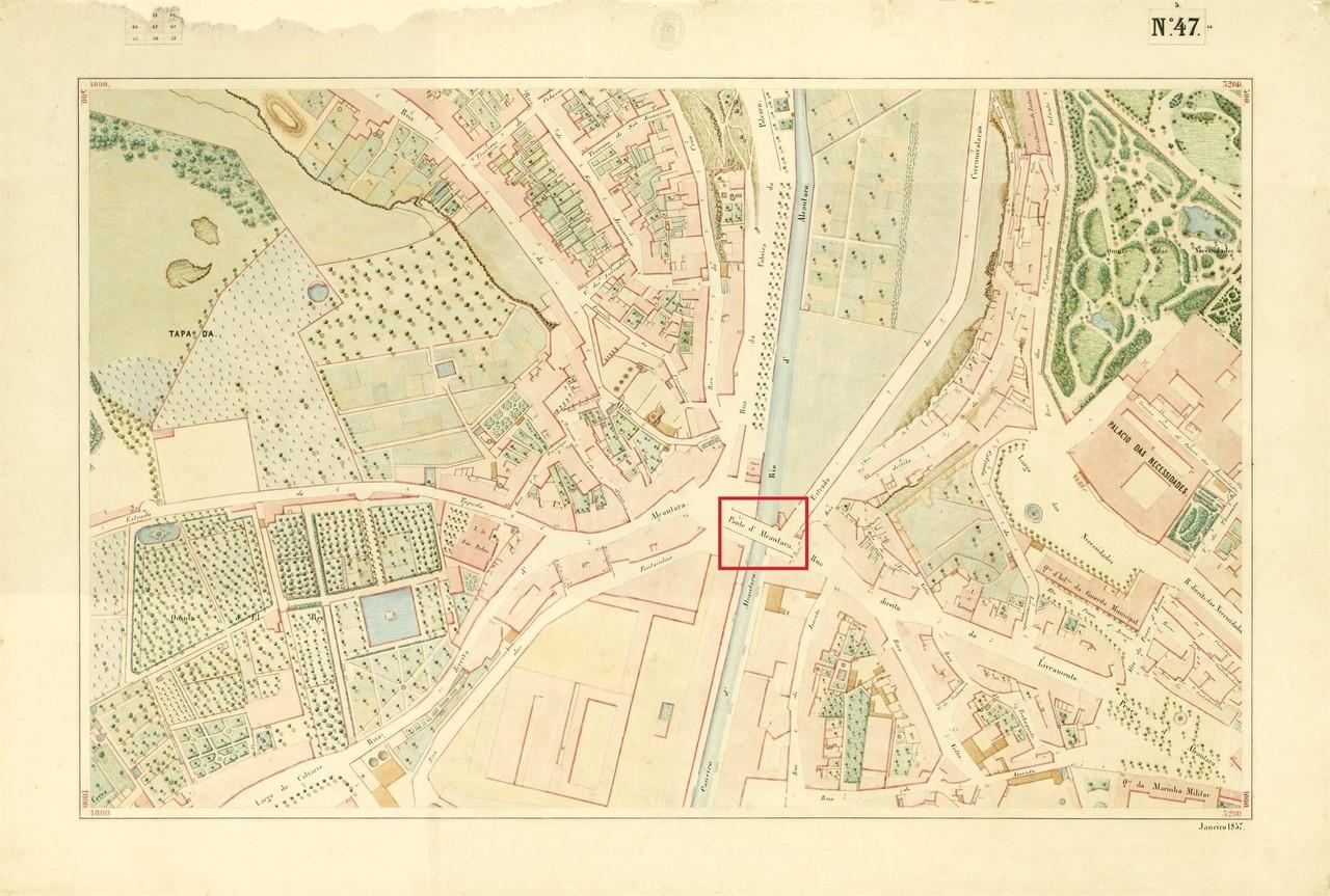 Atlas da carta topográfica de Lisboa, n.º 47, 18
