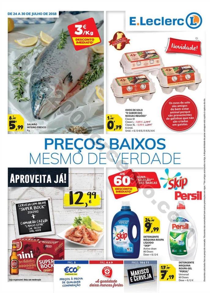 Antevisão Folheto E-LERCLERC Promoções de 24 a