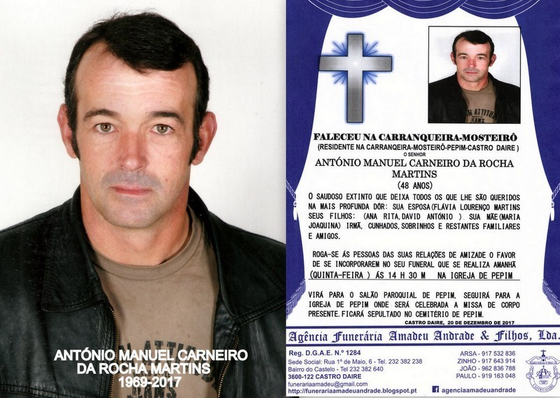 FOTO RIP  DE ANTÓNIO MANUEL CARNEIRO DA ROCHA MAR