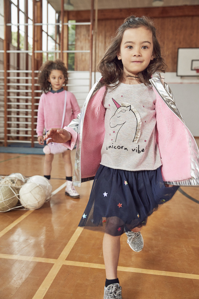Raincoat E15 $17, Unicorn sweater E10 $11, Navy Tu