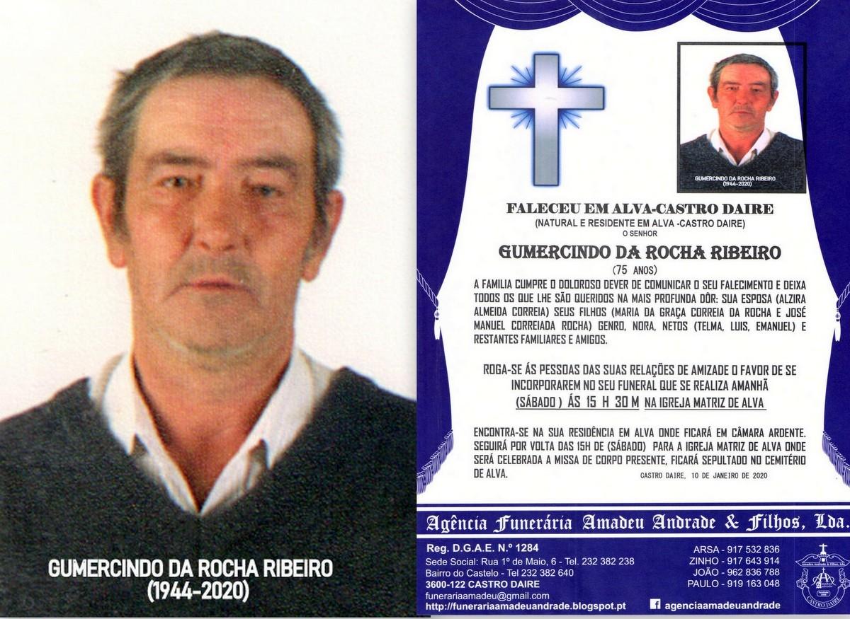 FOTO RIP DE GUMERCINDO DA ROCHA RIBEIRO-75 ANOS (A