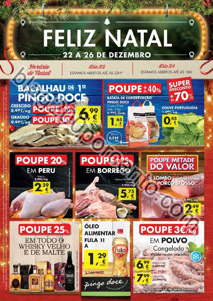 Antevisão Folheto Extra PINGO DOCE Natal promoç