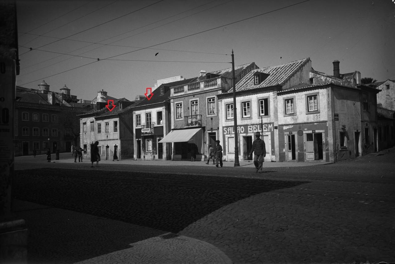 Rua de Belém antes das demolições, 1939, foto d