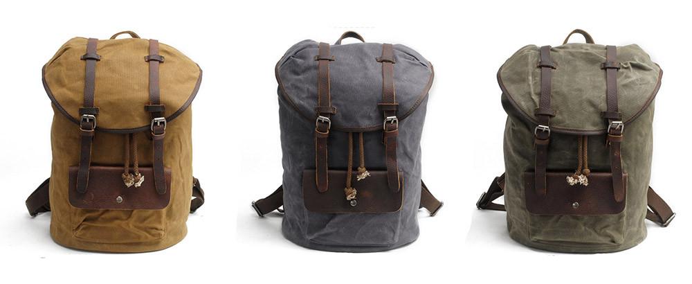 mochila masculina de lona e couro em portugal loja