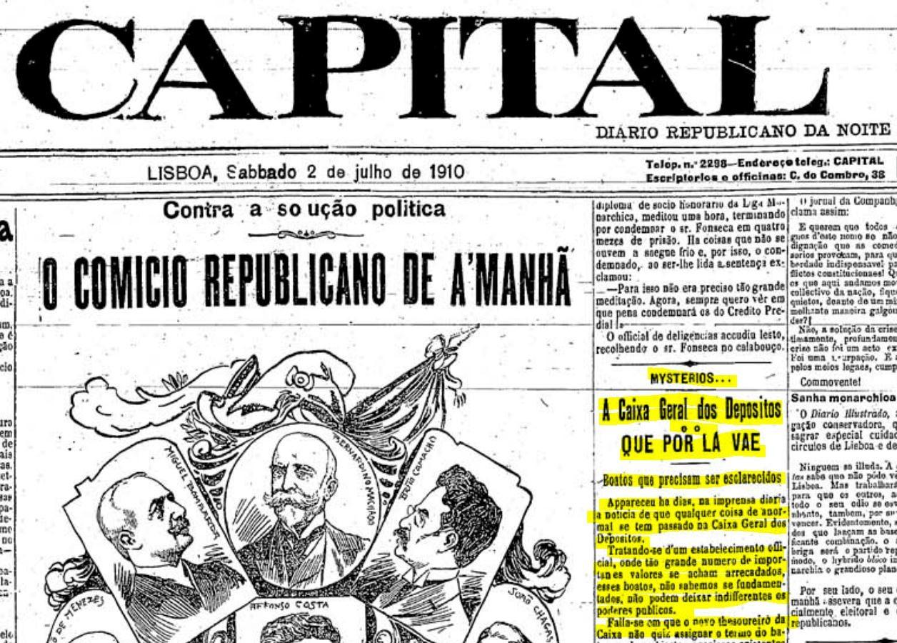 A Capital, 2/VII/1910.