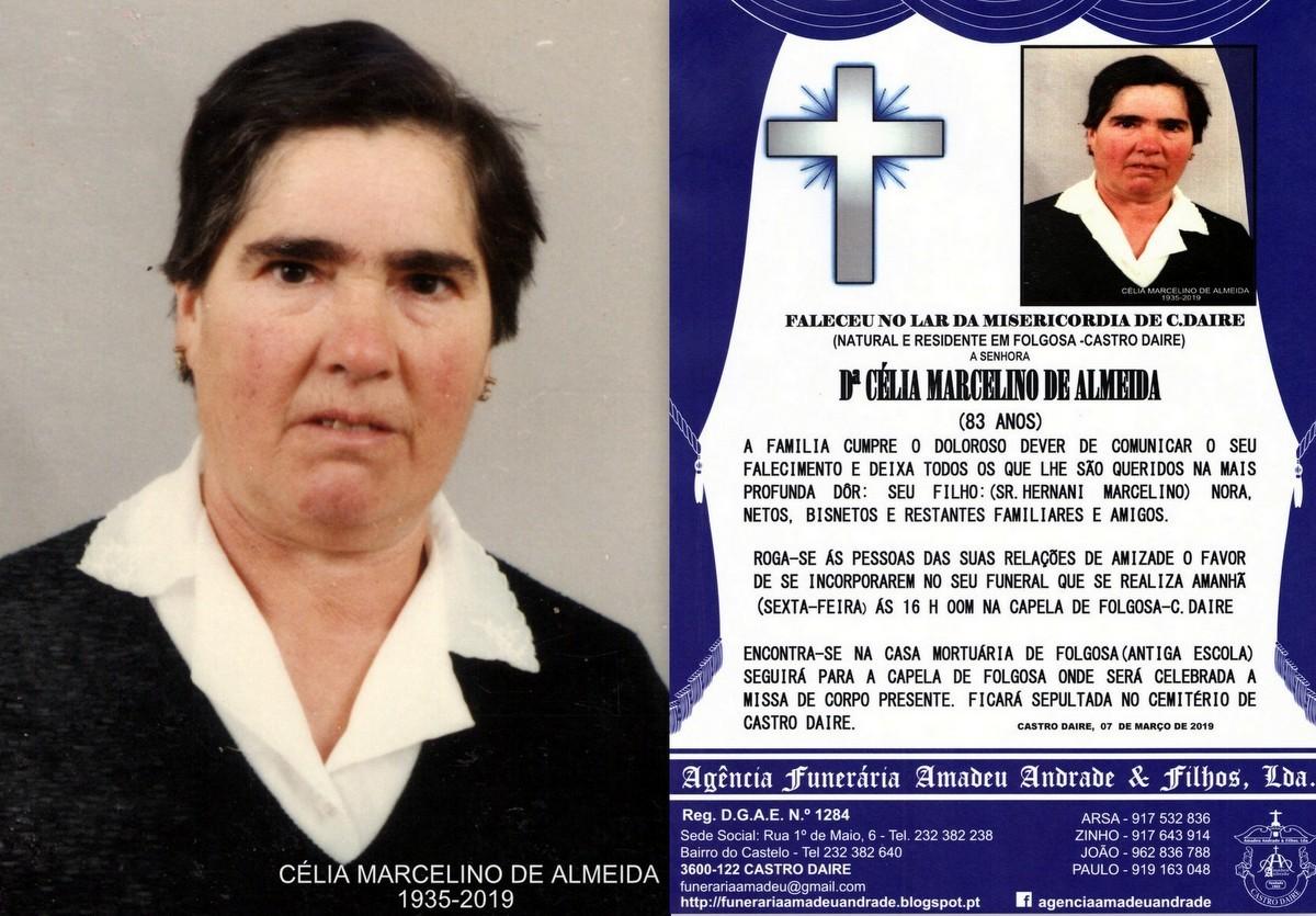 RIP-FOTO DE CÉLIA MARCELINO DE ALMEIDA-83 ANOS (F