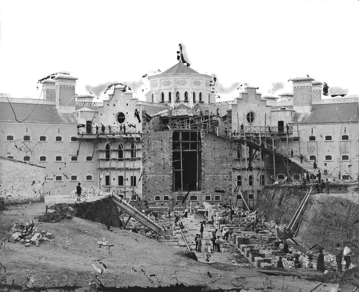 Construção da Penitenciária de Lisboa, ant. a 1