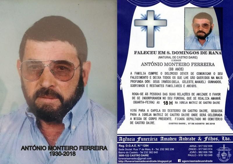 FOTO RIP DE ANTÓNIO MONTEIRO FERREIRA-88 ANOS (CA