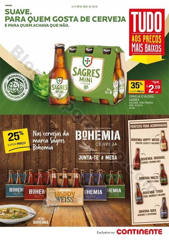 Novo folheto CONTINENTE Extra Cervejas promoções
