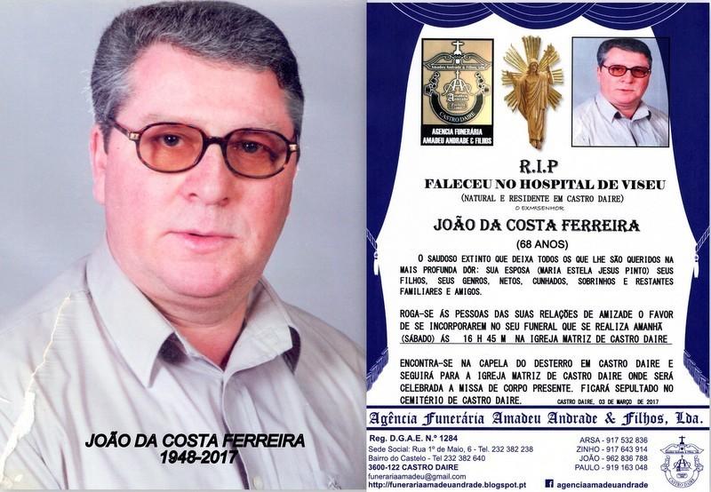 FOTO-RIP- DE JOÃO DA COSTA FERREIRA-68 ANOS (CAST