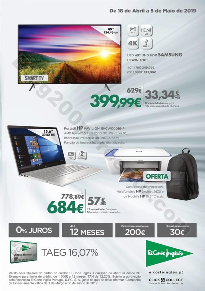 Antevisão Folheto EL CORTE INGLÉS Tecnologia 18