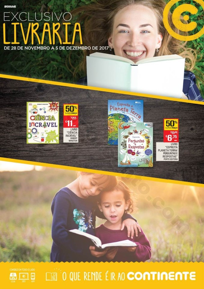 Novo Folheto CONTINENTE Extra livraria promoções