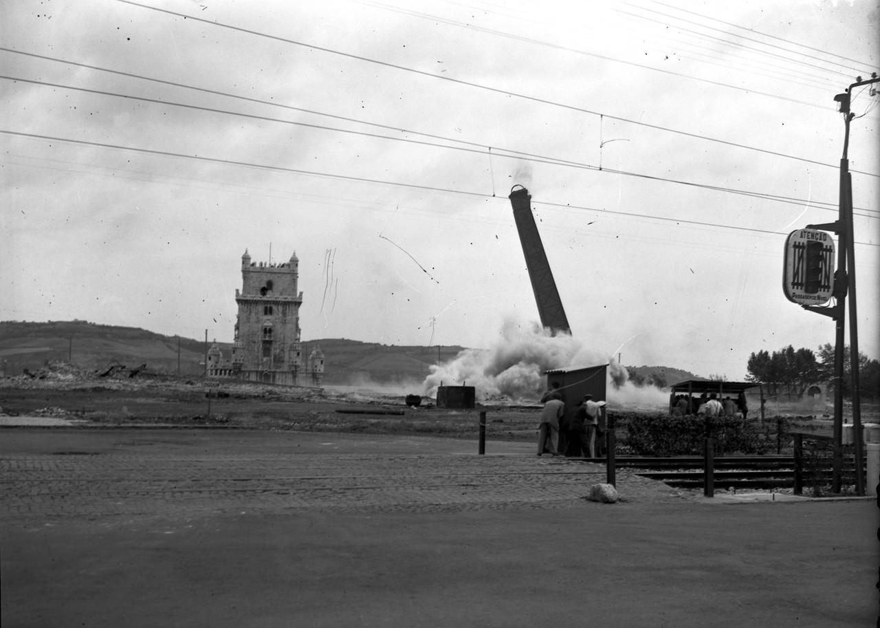 Fábrica de Gás de Belém, implosão da segunda c