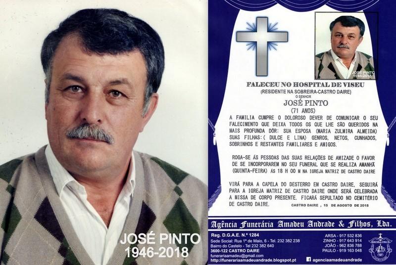 FOTO RIP  DE JOSÉ PINTO-71 ANOS (SOBREIRA-CASTRO