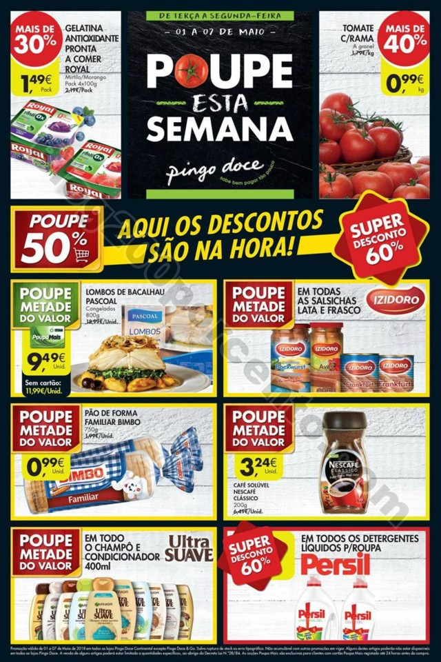 Novo Folheto PINGO DOCE Super Promoções de 1 a 7