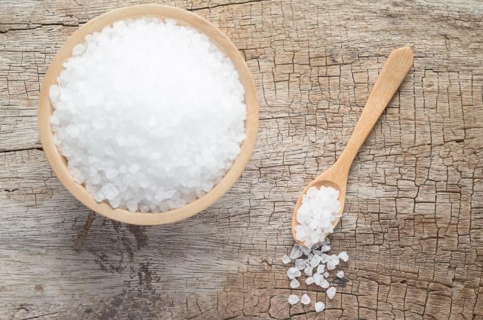 Esfoliante caseiro com sal