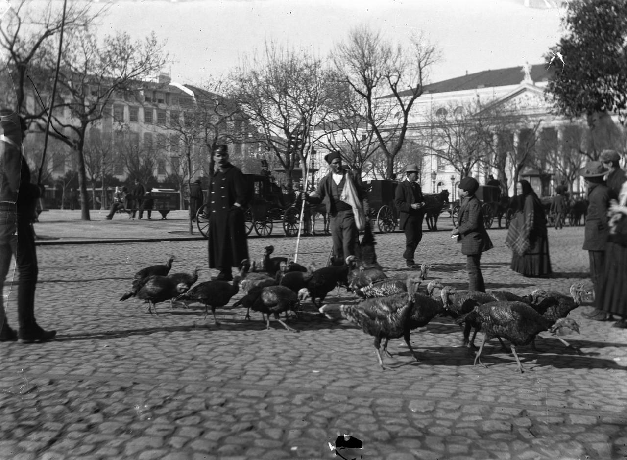 Venda ambulante de perús, 1891, foto de Augusto B