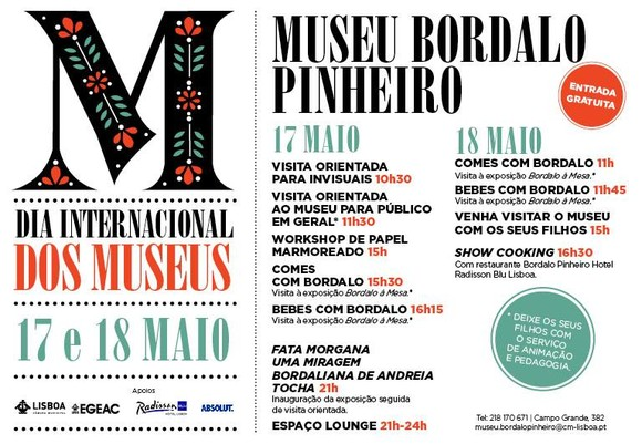 Museu Bordalo - programa dia dos Museus