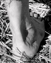 pé descalço