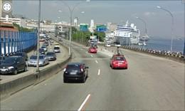 Via Expressa - Elevado da Perimetral Transatlântico no Pier Mauá