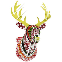 Wall-Art-Decals-Mounted-Deer-Head-Contemporary-Fak